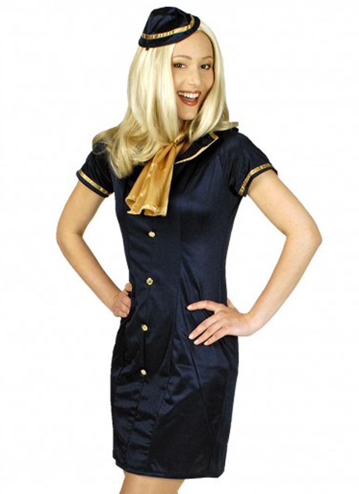 retro stewardess hanna flugbegleiterin kostüm damen