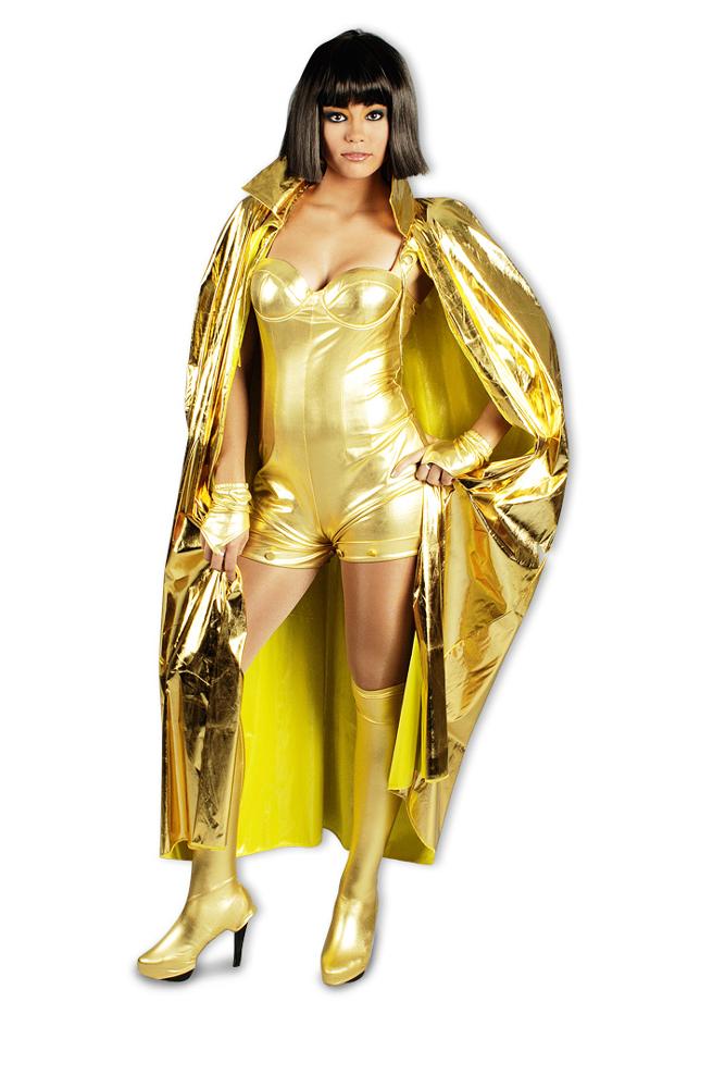 Spacegirl Umhang Zum Kostum Accessoires Gold Silber