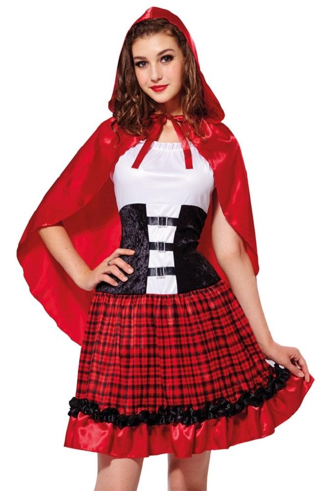 hochwertiges rotkäppchen kostüm für damen  märchen
